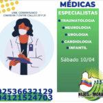 Estás son las especialidades que estarán disponibles para mañana miércoles  en nuestra Unidad de Atención Médica Hijos de Morán 🏥